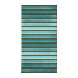 SOMMAR 2020 - Karpet, anyaman datar, garis-garis tirus/hijau