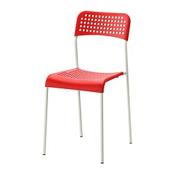 ADDE - Chair, red/white