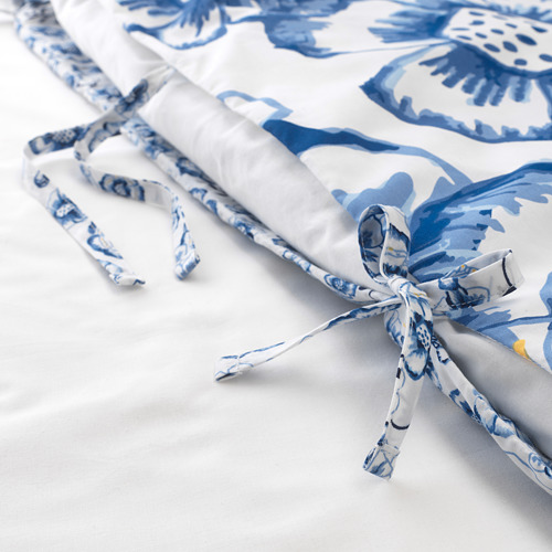 SÅNGLÄRKA - quilt cover and pillowcase, butterfly/white blue, 150x200/50x80 cm   IKEA Indonesia - PE709448_S4