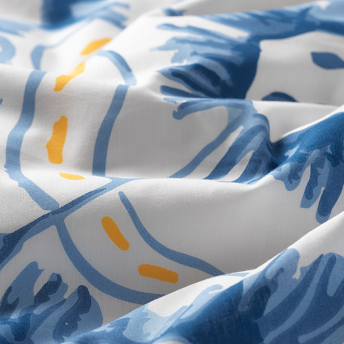 SÅNGLÄRKA - quilt cover and pillowcase, butterfly/white blue, 150x200/50x80 cm   IKEA Indonesia - PE709452_S4