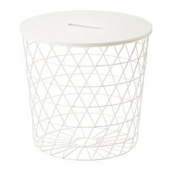 KVISTBRO - Meja penyimpanan, putih, 44 cm