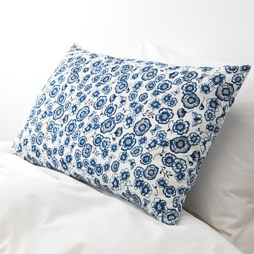SÅNGLÄRKA - cushion, flower/blue white, 65x40 cm   IKEA Indonesia - PE718264_S4
