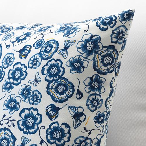 SÅNGLÄRKA - cushion, flower/blue white, 65x40 cm   IKEA Indonesia - PE718267_S4