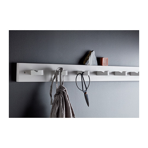 KUBBIS rack with 7 hooks