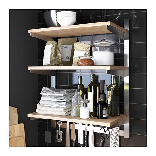 KUNGSFORS susp rail w shelf/mgnt knife rack