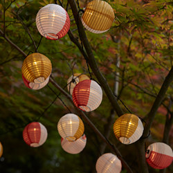 SOLVINDEN - LED lighting chain with 24 lights, outdoor solar-powered/globe multicolour