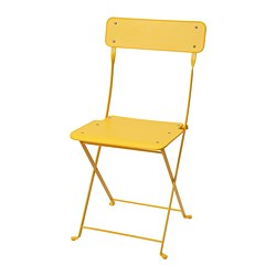 SALTHOLMEN - Chair, outdoor, foldable/yellow