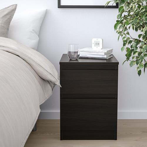 KULLEN - lemari 2 laci, hitam-cokelat, 35x49 cm | IKEA Indonesia - PE758812_S4