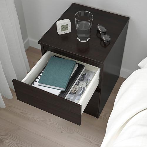 KULLEN - lemari 2 laci, hitam-cokelat, 35x49 cm | IKEA Indonesia - PE758826_S4