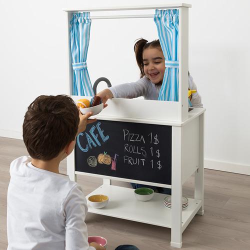 SPISIG dapur mainan dengan tirai