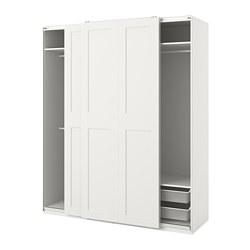PAX/GRIMO - Kombinasi lemari pakaian, putih, 200x66x236 cm