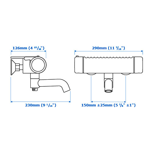 VOXNAN mixer mandi/shower thermostatic