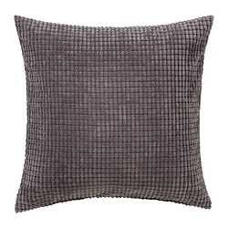GULLKLOCKA - Cushion cover, grey