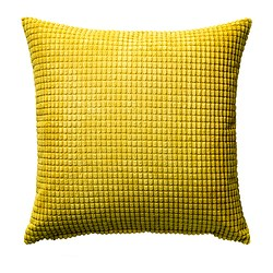 GULLKLOCKA - Sarung bantal kursi, kuning