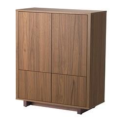 STOCKHOLM - Cabinet with 2 drawers, walnut veneer