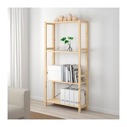 IVAR - 1 section/shelves, pine