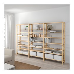IVAR - 3 sections/shelves, pine