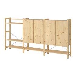 IVAR - 3 bagian/rak/kabinet, kayu pinus