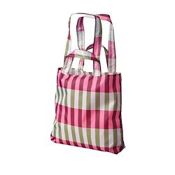 SKYNKE - Carrier bag, green/pink