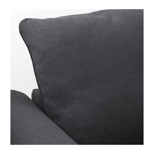 GRÖNLID - sofa bentuk u, 6 dudukan, dengan ujung terbuka/Sporda abu-abu tua   IKEA Indonesia - PE669620_S4