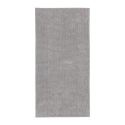 TOFTBO - Bath mat, grey-white mélange