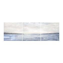 PJÄTTERYD - PJÄTTERYD, gambar, set isi 3, Coast, 56x56 cm