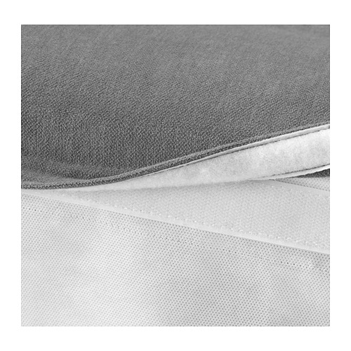 GRÖNLID - sarung u bangku kaki dg penyimpanan, Ljungen abu-abu medium   IKEA Indonesia - PE669645_S4