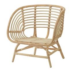 BUSKBO - Armchair, rattan