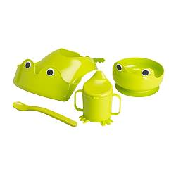 MATA - 4-piece eating set, green