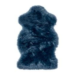 SMIDIE - Karpet kulit domba, dicelup, biru tua