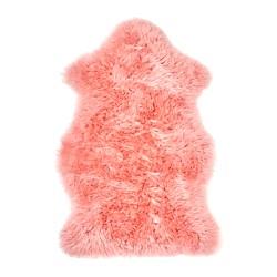 SMIDIE - Karpet kulit domba, dicelup, merah muda