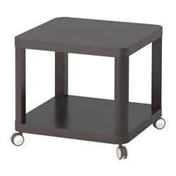 TINGBY - Side table on castors, grey