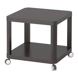 TINGBY - Meja samping beroda, abu-abu
