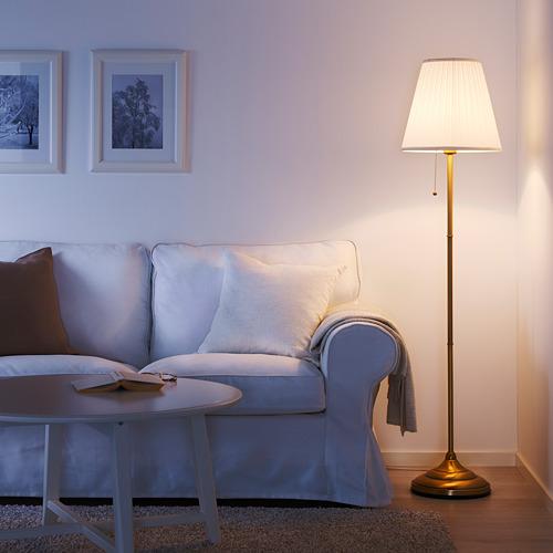 ÅRSTID - lampu lantai, kuningan/putih   IKEA Indonesia - PE611363_S4