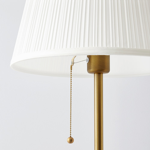 ÅRSTID - lampu lantai, kuningan/putih   IKEA Indonesia - PE671329_S4