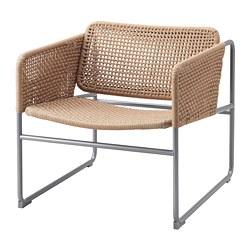 INDUSTRIELL - Armchair, natural/grey