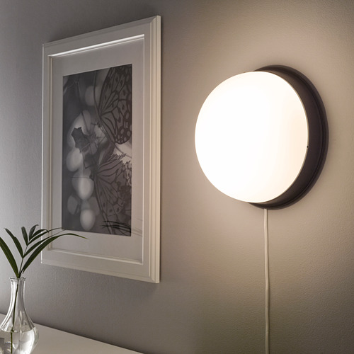 SKURUP - lampu plafon/dinding, hitam, 25 cm | IKEA Indonesia - PE682573_S4