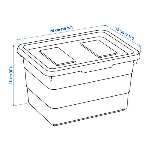 SOCKERBIT - kotak dengan penutup, putih, 19x26x15 cm   IKEA Indonesia - PE814696_S4