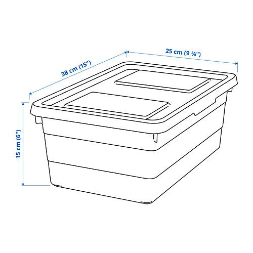 SOCKERBIT - kotak dengan penutup, putih, 38x25x15 cm | IKEA Indonesia - PE814699_S4