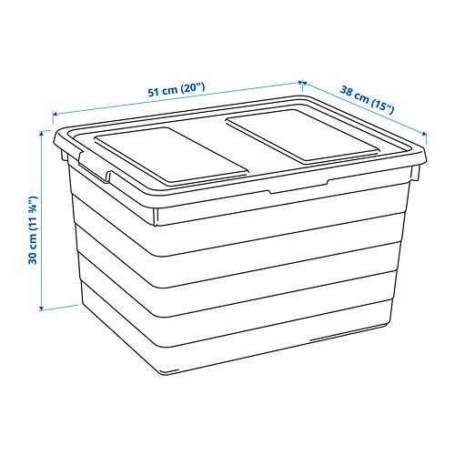 SOCKERBIT - kotak dengan penutup, putih, 38x51x30 cm | IKEA Indonesia - PE814698_S4