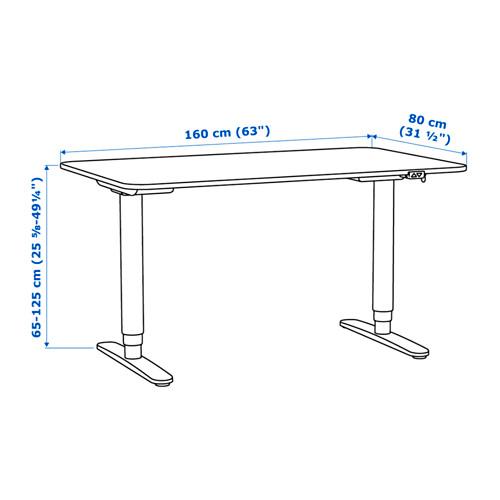 BEKANT meja duduk/berdiri