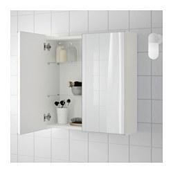 LILLÅNGEN - Kabinet cermin 2 pintu, putih