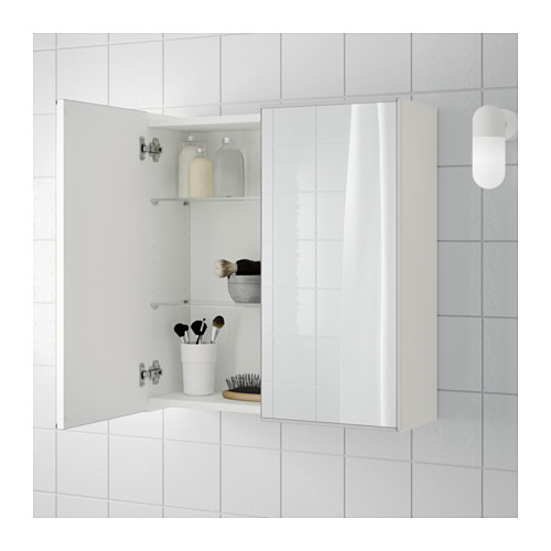 LILLÅNGEN kabinet cermin 2 pintu