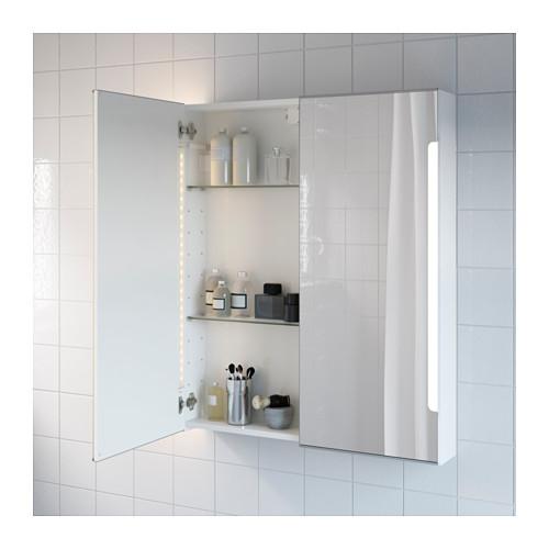 STORJORM kab cermin 2 pintu/lampu built-in