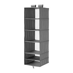 SKUBB - Storage with 6 compartments, dark grey