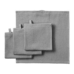 KORNAN - Washcloth, grey