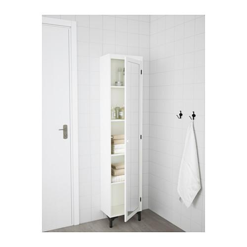 SILVERÅN kabinet tinggi dengan pintu cermin