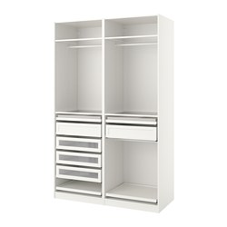 PAX - Wardrobe combination, white