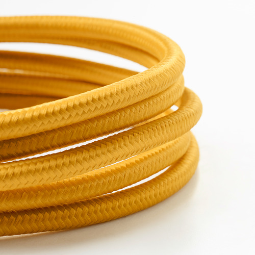 SUNNEBY - cord set, dark yellow textile, 1.8 m   IKEA Indonesia - PE693294_S4