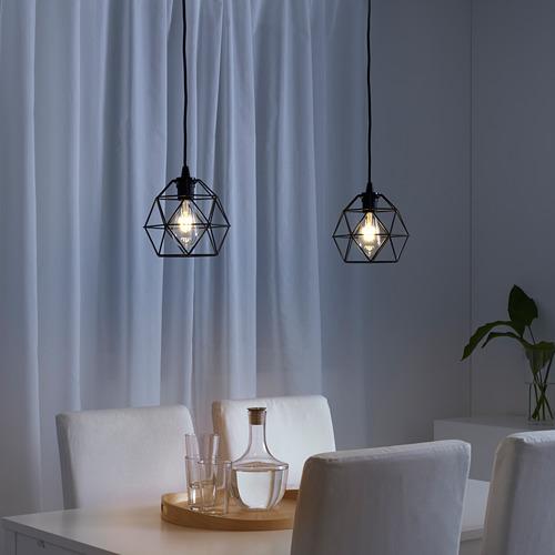 BRUNSTA - pendant lamp shade, black, 20 cm | IKEA Indonesia - PE616510_S4
